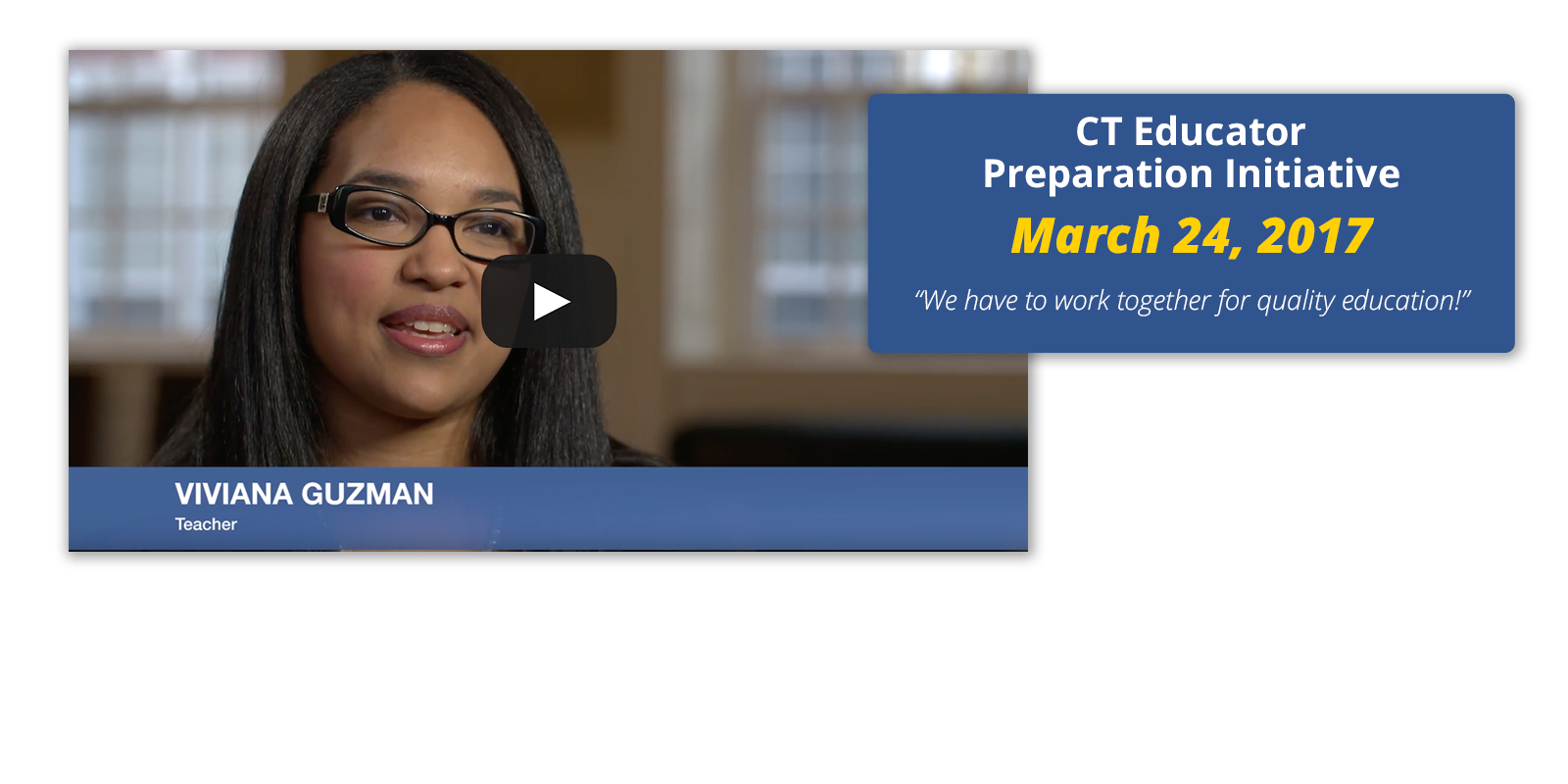 Connecticut Educator Preparation Initiative:
